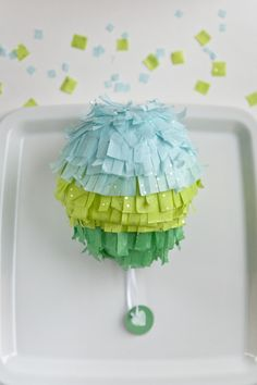Mini pinatas to make...each student could make one and hang it to decorate (Cinco de Mayo) and then at the end of the day everyone could go reveal the treats in someone's pinata.