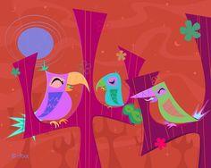 Tiki Art, Summer Nights, Birds, Artist, Instagram Posts, Bird, Artists