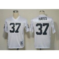 mitchell and ness raiders 37 lester hayes white stitched throwback nfl jersey