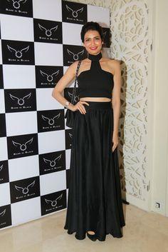 Karishma Tanna at Bare in Black Launch.