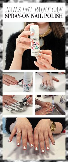 Nails Inc. practically broke the internet (at least, the beauty-centric parts of the internet) last week when it announced a new product: Nails Inc. Paint Can nail polish. The premise: a nail polish that you spray on to your fingers, like spray paint. it doesn't launch in the United States until March 2016, but lucky for you (and me), Allure got one of the first samples to play with. So how does it work? Here's how...   allure.com