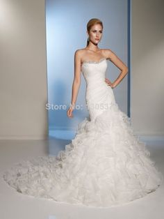 branco novo/marfim casamento vestido de noiva vestidos 2 4 6 8 10 12 14 16 18 20 tamanho personalizado em Vestidos de noiva de Roupas & acessórios no AliExpress.com