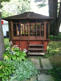 Backyard hottub