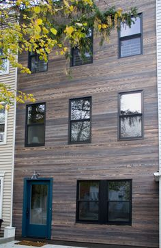 MURASAKI shou sugi ban charred cypress exterior siding in Park Slope Brooklyn NYC