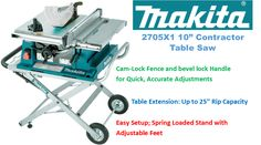 Top Power Tools Review: Best Contractor Table Saw Cabinet Table Saw, Jobsite Table Saw, Contractor Table Saw, Portable Table Saw, Aluminum Table, Generators, Makita, Power Tools, Top