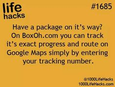 Life Hacks - tracking a package. Boxoh.com