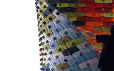 Fabric interlocking room dividers. Kvadrat - Products - North Tiles