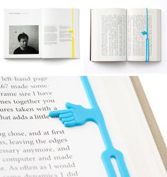 Pointing Finger Bookmark. I NEED this!