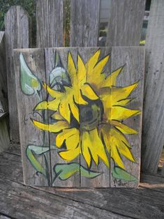 Pallet Painting, Pallet Art, Painting On Wood, Fence Painting, Wood Paintings, Pallet Signs, Acrylic Paintings, Wood Signs, Painted Wood Fence