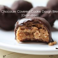 Chocolate Covered Cookie Dough Bites (Grain-free)