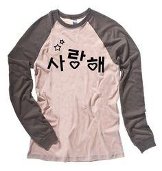 KPOP Shirt cute Korean t-shirt Saranghae kawaii k-pop clothing [affiliate]