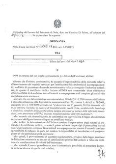 Studio Legale Buonomo - Diritto Previdenziale ed Assistenziale: Anche per il Tribunale di Nola è ininfluente la sp...