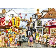 Seaside Shopping Jigsaw Puzzle from Jigsaw Puzzles Direct - Order today and Get Free Delivery