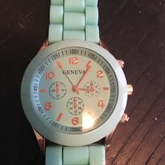 Geneva watch Turquoise Geneva Watch. Was a gift. Only worn once. Just don't wear it. Geneva Accessories Watches