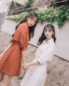 Mode Ulzzang, Ulzzang Korean Girl, Cute Korean Girl, Asian Girl, Bff Girls, Twin Girls, Cute Girls, Korean Girl Fashion, Ulzzang Fashion