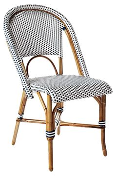 Navy Riviera Side Chair, Serena & Lily