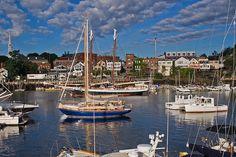The lovely seaside village and harbor of Camden, Maine Seaside Village, Seaside Towns, Acadia National Park, National Parks, Camden Maine, Lincolnville Maine, Rockland Maine, Portal, Places To Travel