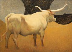 "BINOCULAR, Craig Blietz. Oil on Panel, image 8 3/4 x 11 3/4"", framed 15 x 18"""