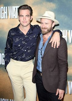 Chris Pine and Ben Foster arrive at the Los Angeles screening of CBS Films' 'Hell Or High Water' held at ArcLight Hollywood on August 10 2016 in...