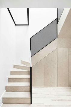 Step Design For Home Stairs Small Es Naturehumaine Architects Mcculloch Residence Interior Stairsinterior Architectureinterior Designstairs How To Build With Modern Staircase - Architectural Wood Staircase Design Clic Modern Stair Handrail, Staircase Railings, Staircase Design, Stairways, Staircase Ideas, Staircase Walls, Metal Stairs, Railing Ideas, Steel Balustrade