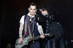 Johnny Depp will make his first US TV appearance since Amber Heard's abuse claims against him. The A-list actor will appear alongside his band Hollywood Vampires on The Late Show with Stephen Colbert on Monday. While it's unclear whether or not Depp and band mates Alice Cooper and Joe Perry will sit down with Colbert for an interview, they have been booked as the show's musical act. Announced on Thursday, the band will join guests Bryan Cranston and Busy Philipps.