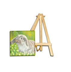 Oil Painting pet portrait miniature 4x4i by OilpaintingsChrista, $35.00