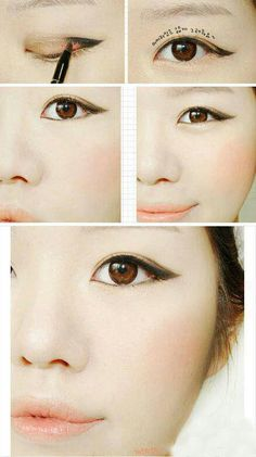 A simple technique to apply eyeliner on hooded eyes or mono-lids.