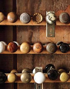The house I grew up in had glass doorknobs that were awesome!! America's Best Salvage Shops:   Uncover period hardware and plumbing fixtures, mercury-glass knobs, factory shelving, lustrous reclaimed flooring, and much, much more with Country Living's ultimate salvage guide.