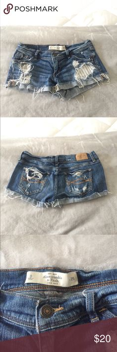 Abercrombie & Fitch Denim Shorts🌸 Hello lovelies! I am selling these beautiful gently used Abercrombie & Fitch denim shorts in a size 0. These shorts are perfect for summer and are made from great material! 🌸🎀 Abercrombie & Fitch Shorts Jean Shorts