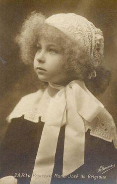 Princess Marie José of Belgium, later Queen of Italy