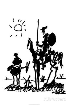 Pablo Picasso Don Quixote print for sale. Shop for Pablo Picasso Don Quixote painting and frame at discount price, ships in 24 hours. Kunst Picasso, Art Picasso, Picasso Drawing, Picasso Prints, Picasso Paintings, Picasso Don Quixote, Art Ninja, Man Of La Mancha, Dom Quixote