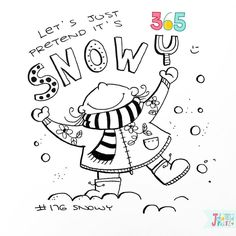 Doodle 176/365: snowy  #365doodleswithjohannafritz  Well let's just pretend it is winter  No snow over here in south Germany. May be at the end of this week. We'll see... by byjohannafritz