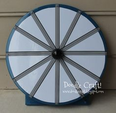 LOVE IT! so easy and simple! Making this soon! Super Spinner prize wheel!