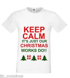 CHRISTMAS T-SHIRT WHITE FITTED TOP WORKS DO LADIES GIFT IDEA SECRET SANTA