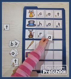 My First CVC Words - hands-on literacy folder game for Letter-Name spellers Play to Learn Preschool
