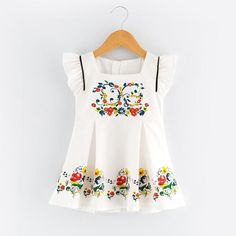1f30d4be6128 Girls Dress Fashion Princess Dresses Sleeveless Floral Pattern for Kids  Clothes