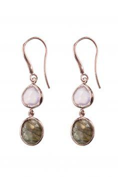 rose gold plated gemstone #earringsI designed for NEW ONE I NEWONE-SHOP.COM