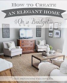 Honeycomb Creative Co.: How To Create an Elegant Home on a Budget: 7 Tips & Tricks budget friendly home deocr #homedecor #decor #diy