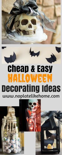 Here are some Cheap and Easy Halloween Decorating Ideas you can do with your kids using items you probably already have. Just add some of these inexpensive Halloween decorations and you will save money and have fun doing it.