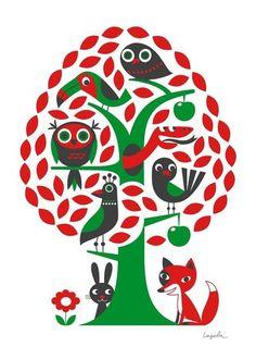 OMM design poster Tree / boom ontworpen door Ingela P. Arrhenius via www.uittnoorden.nl