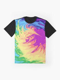 T-shirt graphique 'tie dye patterns' par Jonaselkh Bohemian Accessories, Bohemian Decor, Designs Tie Dye, T-shirts Graphiques, Tie Dye Patterns, Hippie Gypsy, Cute Tshirts, Cute Crochet, Gypsy Style