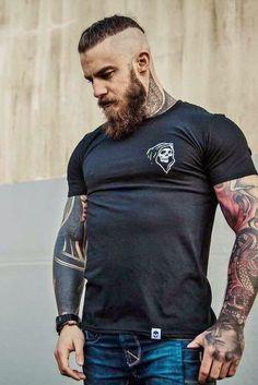 F*ck yeah! Beard and tattoos!! #HuskyMensFashion