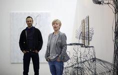 """Galerie Grölle pass:projects, Ausstellungsero?ffnung """"PQP"""" von Sabine Bokelberg und Carl Hager"""