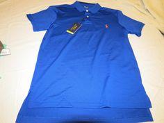 Men's Polo Ralph Lauren Polo Performance shirt short sleeve 0414131 M blue #PoloRalphLauren #Polo