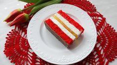 Ciasto biało-czerwone