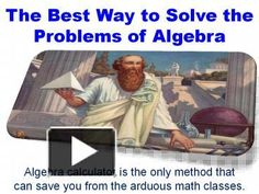 Solve your all algebra problems by using algebra calculator and finish math homework. You can find it many website, but the latest and easy is QuickMath algebra calculator. Now solve your all problems easily and make math your friend.