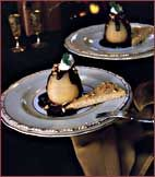 Poached Pears with Mascarpone Cream and Chocolate Sauce Recipe on Food & Wine