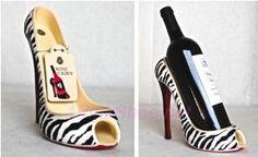 Wild Eye High Heel Bottle Holder, Zebra