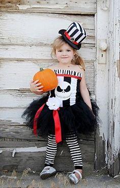 Girls Posh Jack Skellington Nightmare before Christmas Halloween Tutu Set Costume