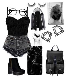 """""""Modern Emo"""" by peachycactus01 ❤ liked on Polyvore featuring Aspinal of London, Harper & Blake, Myia Bonner and modern"""